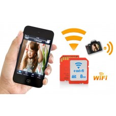 8GB WiFi SD Card - Class 10, Transfer Video and Pictures Directly To Phones and Laptops