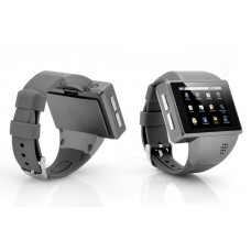 "Android Phone Watch ""Commander 2"" - Quad Band, 2 Inch Capacitive Screen, 2MP Camera (Grey)"